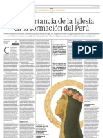 La importancia de la Iglesia en la formación del Perú