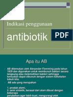 Indikasi penggunaan antibiotik