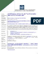 ACNUExpress Vol.2 No.13 - Du 1 Au 15 Novembre 2007
