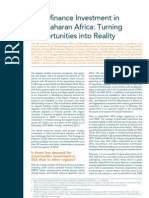 Microfinance Investment in Sub-Saharan Africa