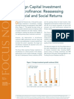 Foreign Capital Investment in Microfinance