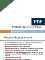 PONDERACIÓN FODA