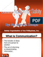 Communication for Safety