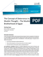 1   The Concept of Deterrence in Arab andMuslim Thought – The MuslimBrotherhood of Egypt