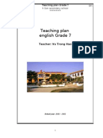 Teaching Plan Grade 7