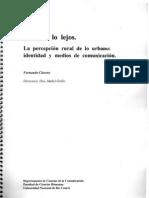 1996-LUCES A LOS LEJOS. LA PERCEPCION RURAL DE LO URBANO
