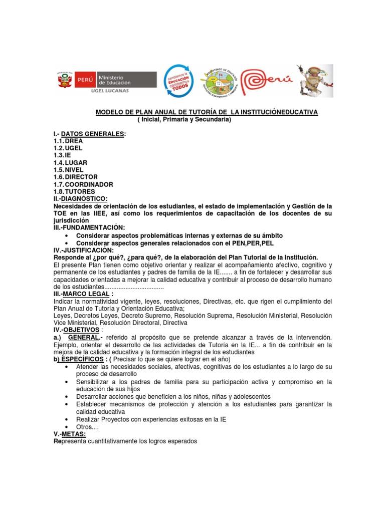 Bonito Plantilla De Plan De Educación Individual Imagen - Colección ...