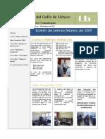Boletín Febrero 2009