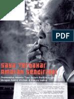 Pramoedya Ananta Toer - Saya Terbakar Amarah Sendirian