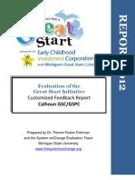 Calhoun 2012 Great Start Evaluation Executive Summary