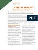 NEPR Annual Report to UMass 2012