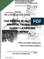 2009-LAS NOTICIAS DE UN CONFLICTO AMBIENTAL TRASNACIONAL