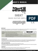 Pix CR50BXT Manual