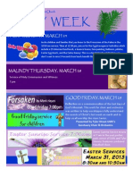Holy Week 2013 Flyer 1