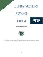 Mannual of Instruction Advance Vol - I