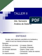 Taller II Clase 1 Unidad 4 Parte 1 Entidades