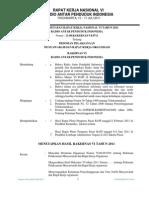 PO Pelaksanaan Musyawarah Raker