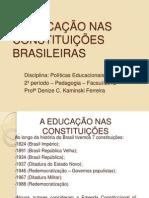 A EDUCAÇÃO NAS CONSTITUIÇÕES