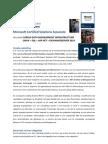 FACTSHEET MASTERCLASS                                      DEEL HBO-ICT OPLEIDING Microsoft Certified Solutions Associate
