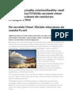 Din Secretele Chinei Efectele Miraculoase Ale Ceaiului Pu-Erh