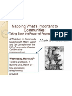 Community Mapping Event Poster