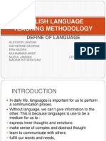 English Language Teaching Methodology Define