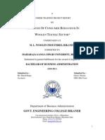 Consumer Behaviour in Woollen Textile Sector