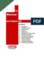 Defy Owner manual