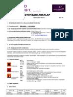 BB No Fungus - Biztonsági adatlap