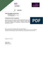 BB Nail Keratin - Biztonsági adatlap