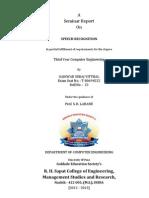 Speech Recognition Seminar Report