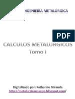 Calculos Metalurgicos - Tomo I