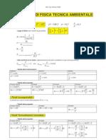 Formulario Di Fisica Tecnica Ambientale