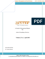 Astitva International Journal of Commerce Management and Social Sciences- April 2013