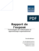 rapport exposé apprentissage organisationnel