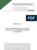 por qué américa latina no puede alcanzar un crecimiento elevado y sostenido, Salama