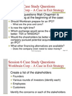 Session 6 Case Study Questions Workbrain Corp - A case in exit strategy