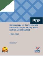 Estimaciones y Proyecciones de Población por sexo y edad (cifras actualizadas) 1950 - 2050