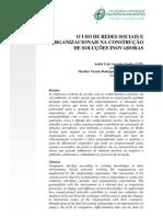 GUEDES & RODRIGUEZ - O uso de redes sociais e organizacionais na construção de soluções inovadoras