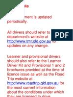 Queensland Drivers Handbook