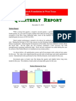 Episcopal Church Foundation in West Texas Quarterly Report12.31.12