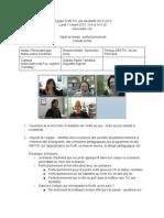 Compte rendu Profil TIC (2013-03-11) Perfectionnement