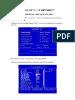 Pasos Para Formatear e Instalar Windows 7