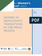 Women in Democratic Transitions in the MENA Region