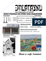 First Hebrew Congregation of Peekskill Bulletin - Summer 2008