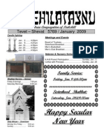 First Hebrew Congregation of Peekskill Bulletin - January 2009