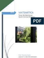 Matematica - Sexto Medicina 2013