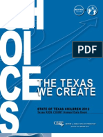 The State of Texas Children - 2012 Kids Count Data
