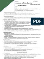 Programa de Físico-Química - 2do