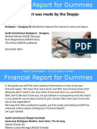 Financial Report for Dummies 2012